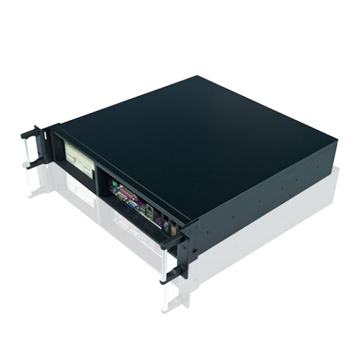 2U rackmount IPC chassis with the front I/O output
