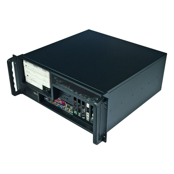 4U rackmount IPC chassis/ server case with the front I/O output