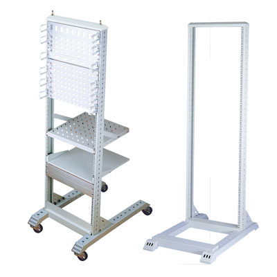 "19"" steel open frame rack with one frame for telecom appliance"