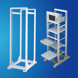 "19"" Two frames Open Rack for Telecom Cable Appliances"