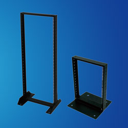 "19"" One frames steel Open Rack for Telecom Cable Appliances"