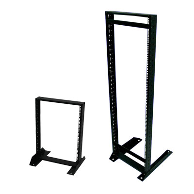"19"" cost-effective open frame rack with one frame for telecom appliance"