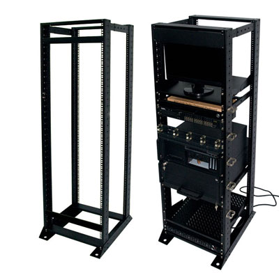 "19"" cost-effective open frame rack with two frames for telecom appliance"