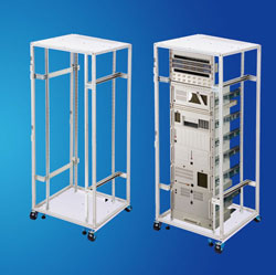 Wide Multi-function steel Open Rack for Telecom Cable Appliances