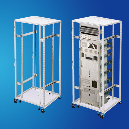 Wide Telecom Open frame Rack for cable management