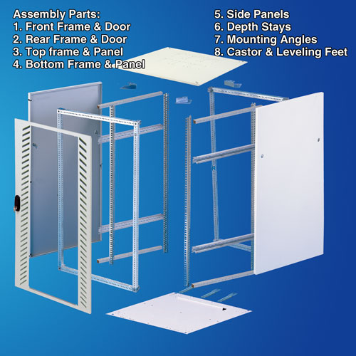 Sheet Steel Cabinet Rack